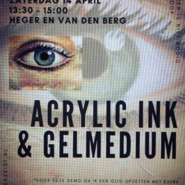 14 April demo gelmedium en liquid Acryl inkt